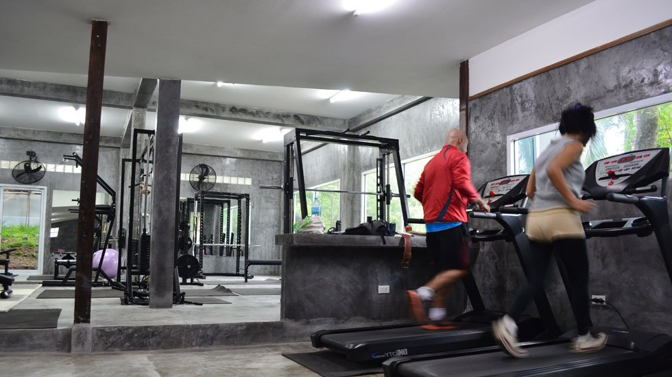 Fully equipped gym on Ko Tao, Thailand