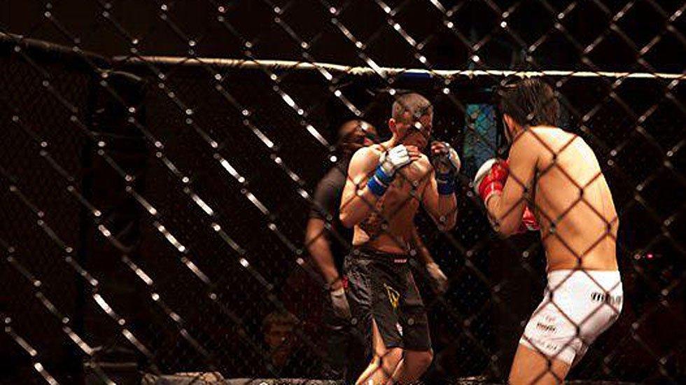 Veteran MMA figher/trainer Charlye Vivas in action