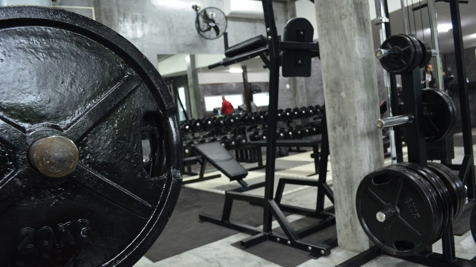 Weight training equipment @ Monsoon Gym