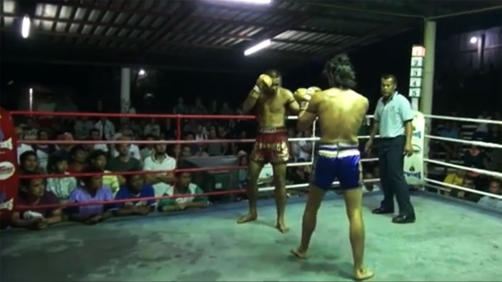 Monsoon Gym's MMA Trainer Charlye Vivas in the ring